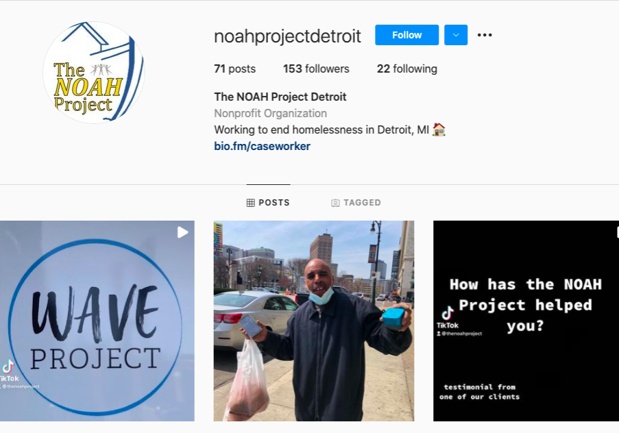 NOAH instagram page screenshot